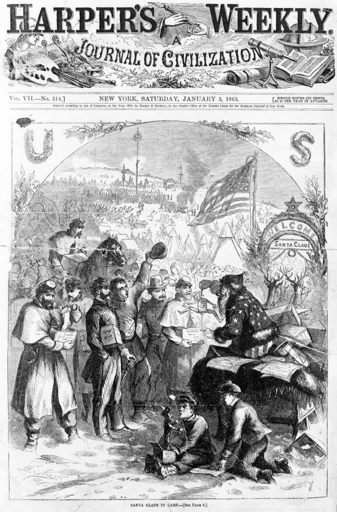 1863 Thomas Nast Santa Claus for Harpers Weekly